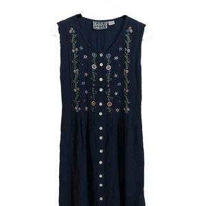 Boho Embroidered Festival Dress